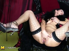 perverted mom getting naughty with her rubber toy