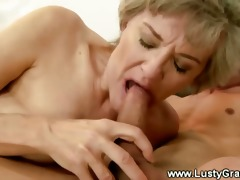 older granny bawdy cleft sucked after giving