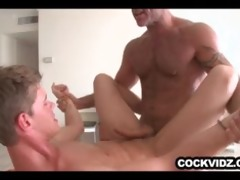 aged fellow slamming a constricted twink