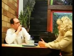 blond mother i visits doctor at his home