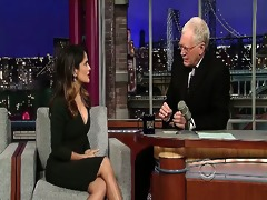 here is a movie of salma hayek from her late show
