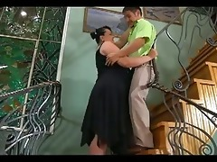 large chunky mother i seduces cute lad to fuck her