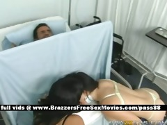 older breasty brunette hair nurses in hospital