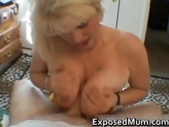 naughty mom shows her juggs and sucks pounder