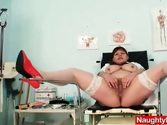 large juggs mature wife wears practical nurse