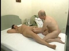 aged angel receives a massage then bonks