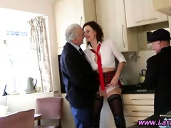 stockinged aged dilettante horny brit