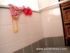 wife is jizzed in washroom