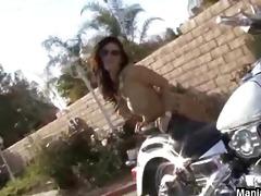 dildoing on a nifty bike