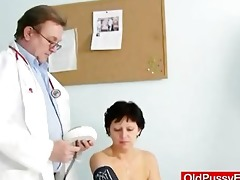 unshaven housewife eva visits gyno doc fuck