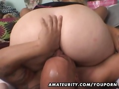 older non-professional bulky floozy anal and oral