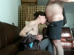 aged babe receives face hole fucked