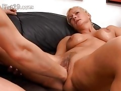 blonde older having pussy fisted hard