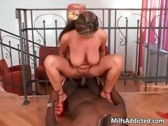 large breasted doxy rides large darksome dong