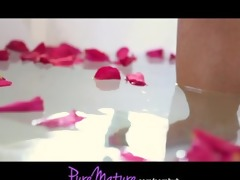 puremature french sexy mom enticed in rose petal