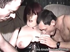 homemade film with aged woman and studs