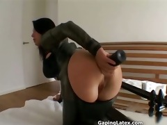 naughty brunette hair doxy goes crazy sex toy