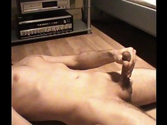 masturbation big o - intensive spunk flow - rod