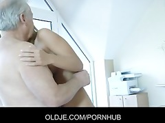 inexperienced golden-haired cleaning lady
