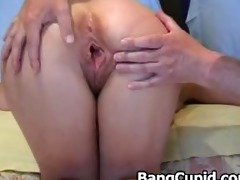 blindfolded mature honey toying her pussy