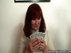 granny loses poker and swallows weenies