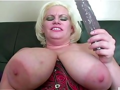 breasty older plays with a beaver