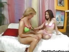 aged on teen lesbian duett sex-toy fucking