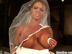 aziani steel bodybuilder in wedding suit ride