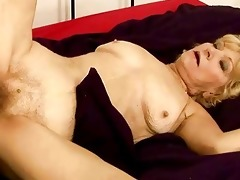 granny acquires her unshaved muff screwed hard