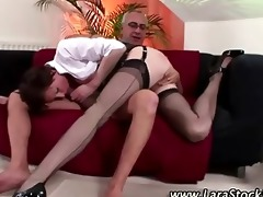 non-professional nylons hoe acquires a ejaculation