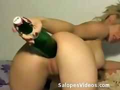 fist anal pour blond aux gros seins