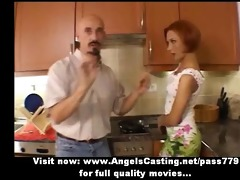 amateur excellent redhead hot wife talking with