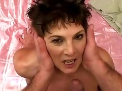 lusty corpulent granny receives drilled hard