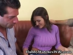 hubby watches wife have orgasm with fellow
