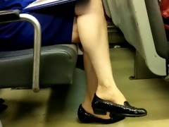 older woman legs on educate