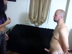 giantess femdom-goddess gives slaves balls