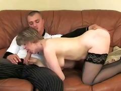 enjoyable mamma with saggy bra buddies &; lad