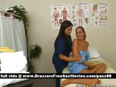 ravishing dark brown nurse washes a patient
