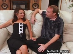 sperm swallowing doxy wife railed hard!