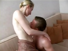 tall older blond seduces not her son