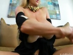 massive bumpers bounce as sexually excited milf