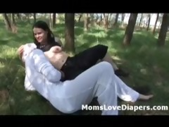 wazoo brunette hair mom straponfucks lewd baby up