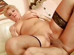 chubby grandma enjoys hard fucking