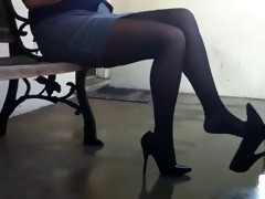 relax with shoe dangle after work