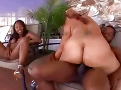 mother and daughter share a pounder