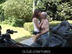 youthful russian hotty rides really old chap