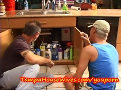mother i housewife receives fucked by the plumbers