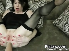 fist pegging and perversion for hot chick