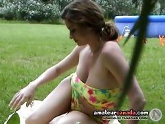 bikini dd large boob girlfriend hidden camera in