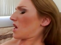 blond mother i with natural bumpers acquires hard